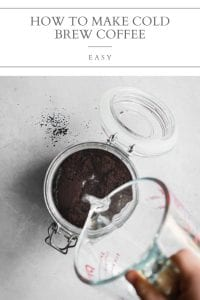 how to make cold brew coffee at home pin