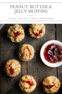 peanut butter and jelly muffins pin