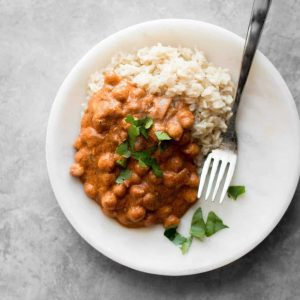 Instant Pot Butter Chickpea in a plate