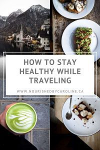 stay healthy while traveling pin