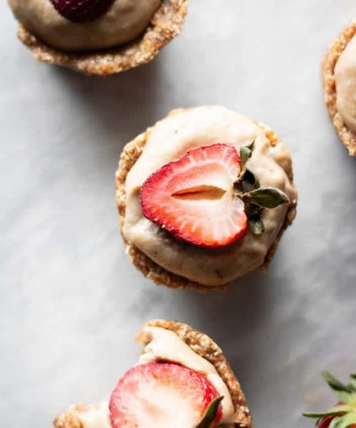 cheesecake cups from the top
