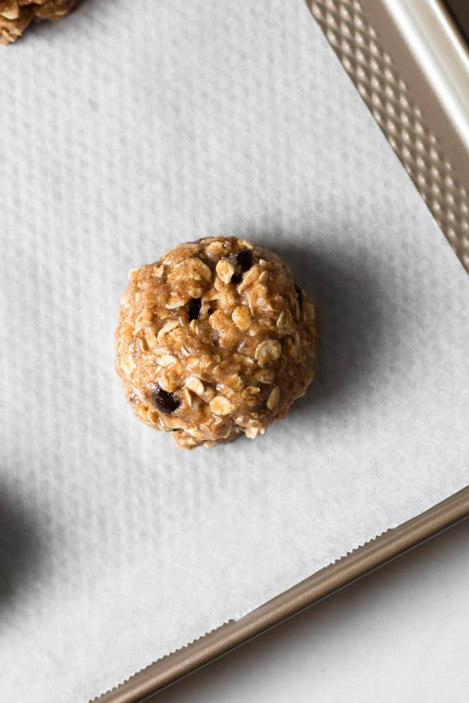 unbaked oatmeal chocolate chip cookies