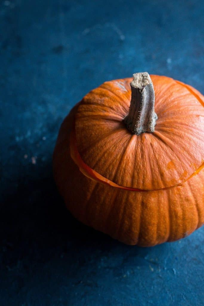 pumpkin with the top cut