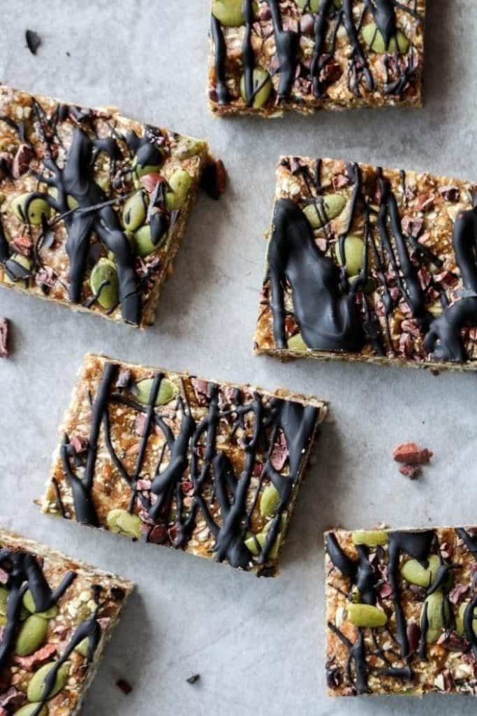 granola bars from the top