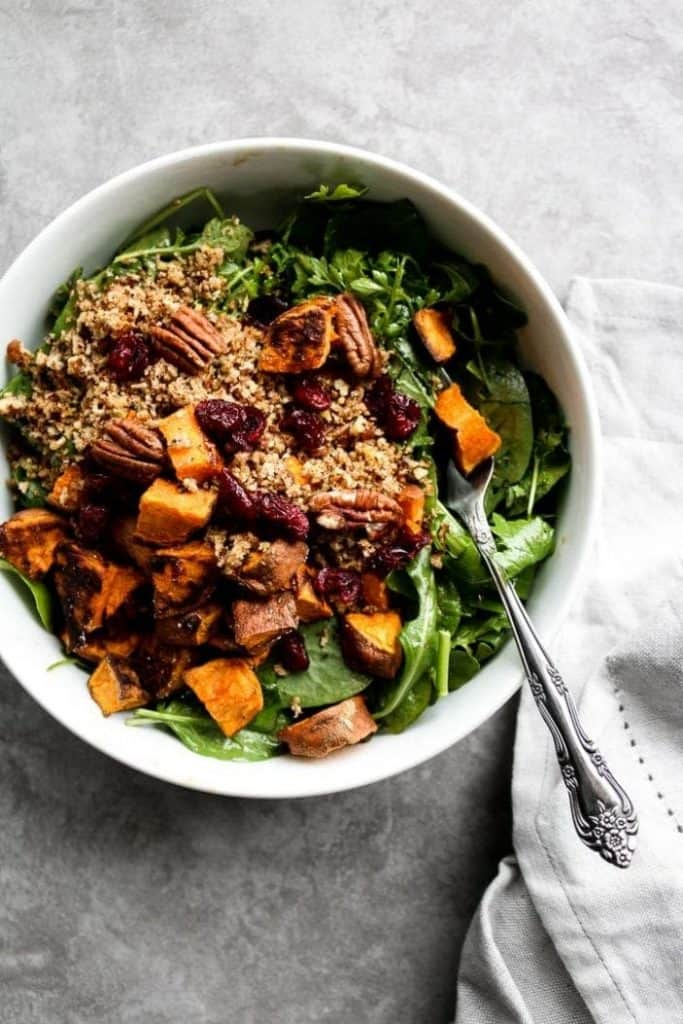 sweet potato and toasted bread salad
