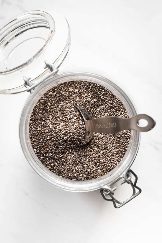 chia seeds in container