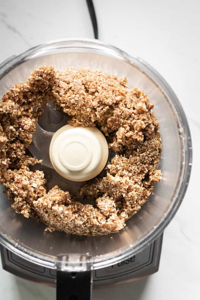 thumbprint cookie mixture in a food processor