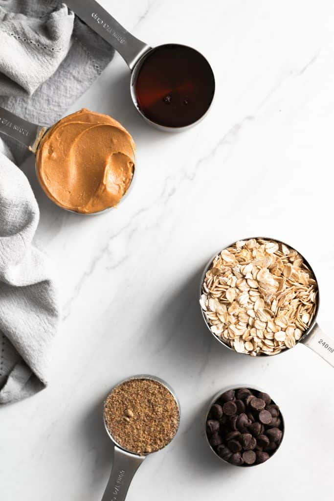 maple, peanut butter, oats, flax and chocolate