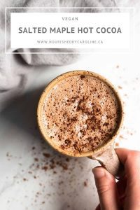 vegan salted maple hot cocoa pin