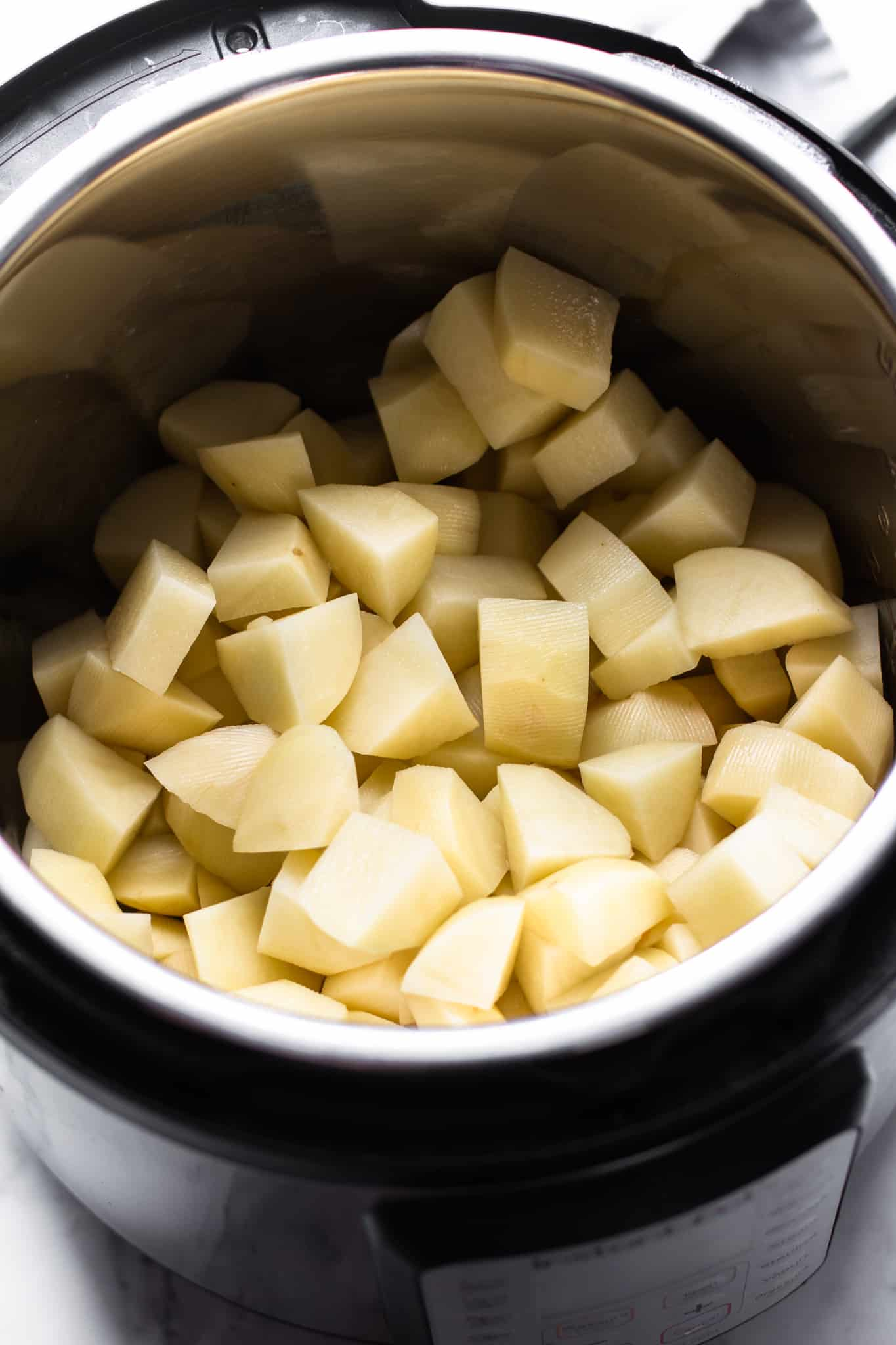 cubed potatoes in an Instant Pot