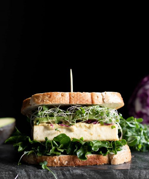 tofu sandwich from the side