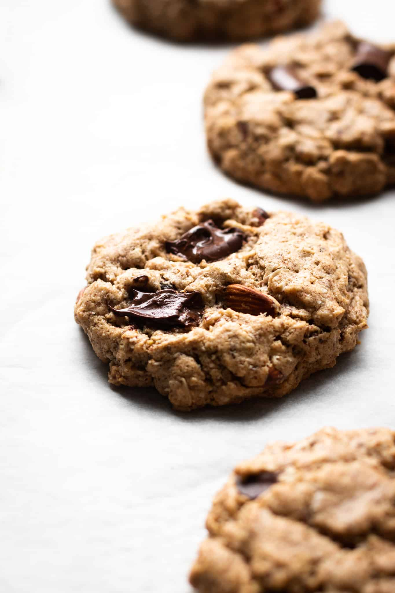 almond breakfast cookies from the side