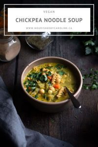creamy chickpea noodle soup pin